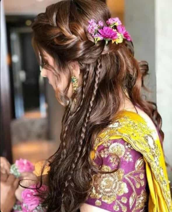Bridal Hairstyles For Haldi Ceremony