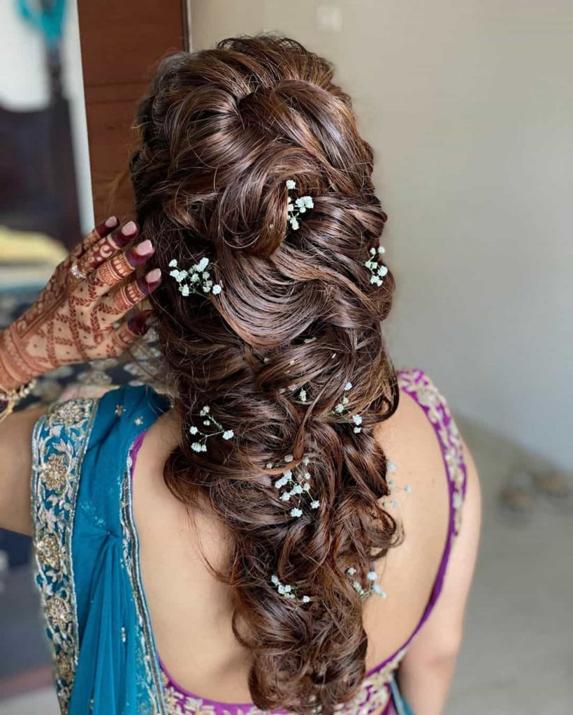 Bridal Hairstyle for Mehendi
