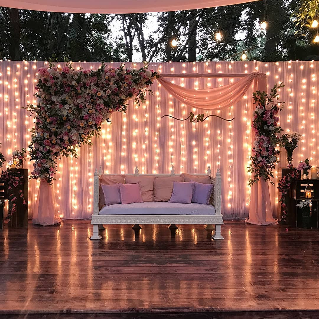 minimal sangeet stage decor ideas